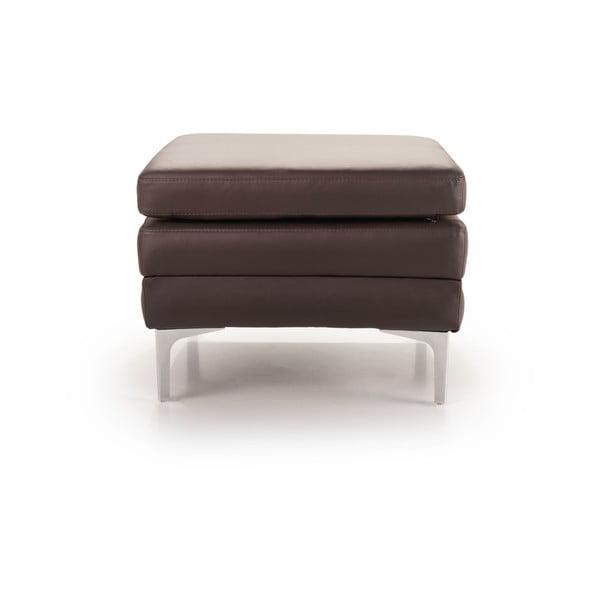 Hnedá kožená lavica Softnord Twigo