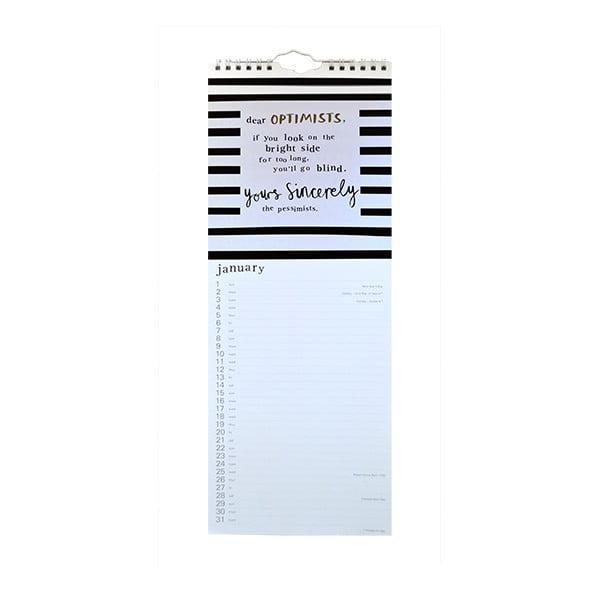 Úzký kalendář Portico Designs Sincerely Yours