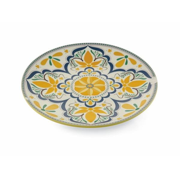 Kulatý servírovací talíř z dolomitu Villa d´Este Sicilia
