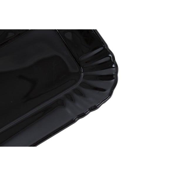 Skleněný tácek Kaleidos, černý