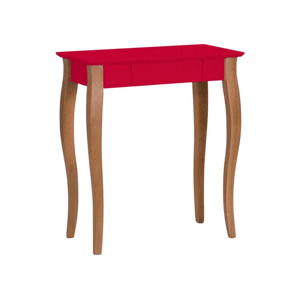 Červený psací stůl Ragaba Lillo, šířka 65 cm
