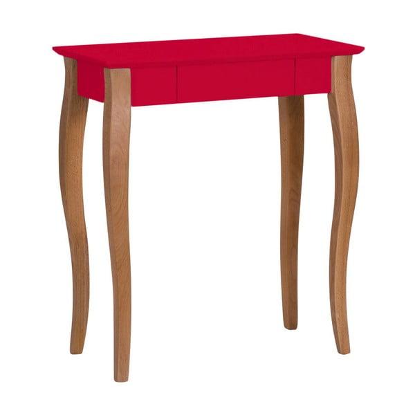 Červený psací stůl Ragaba Lillo, šířka65cm