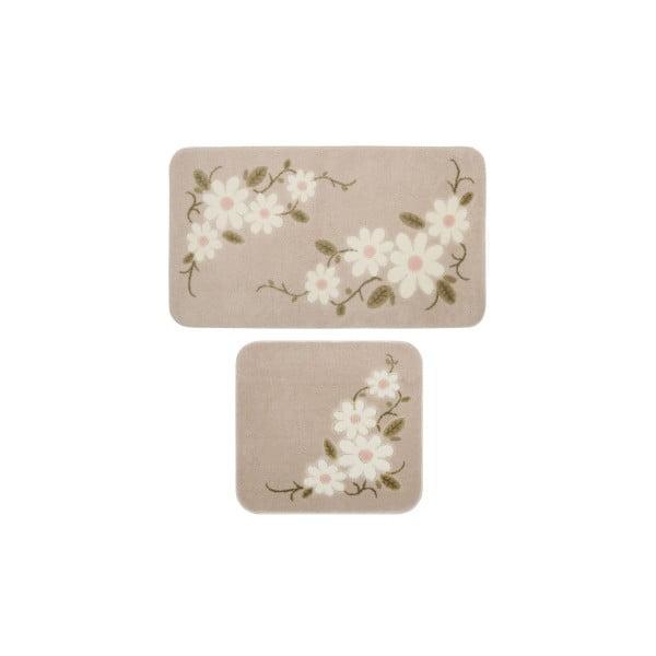 Sada 2 hnědých předložek do koupelny Confetti Bathmats Margherita