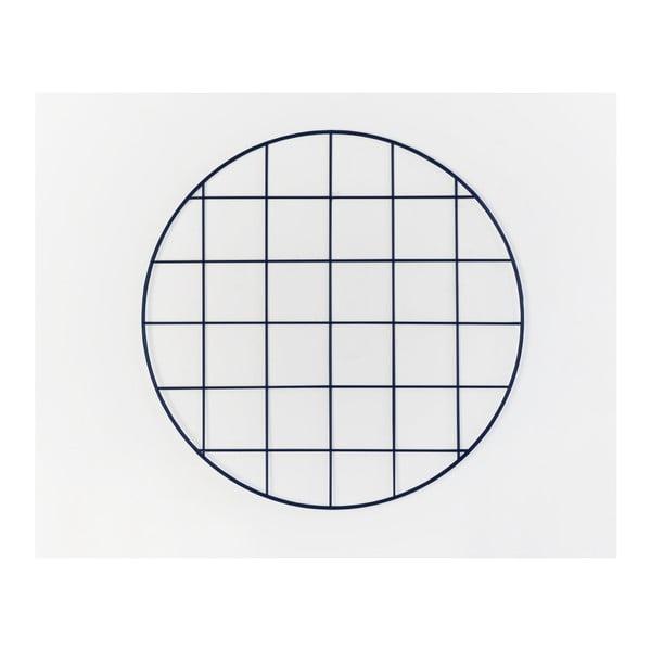 Tmavomodrá drôtená nástenka Really Nice Things Circle Azul Noche, ⌀ 59 cm