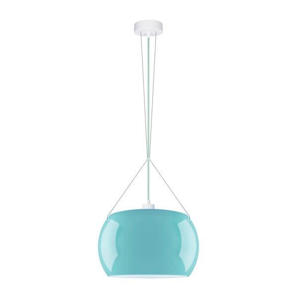 Světle modré lesklé závěsné svítidlo Sotto Luce MOMO