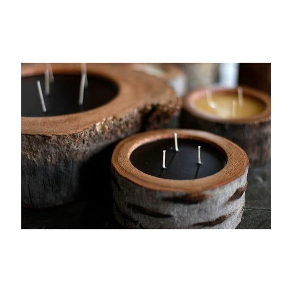 Palmová svíčka Legno Dark s vůní vanilky a pačuli, 320 hodin hoření