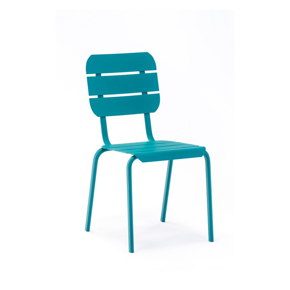 Sada 4 modrých zahradních židlí Ezeis Alicante