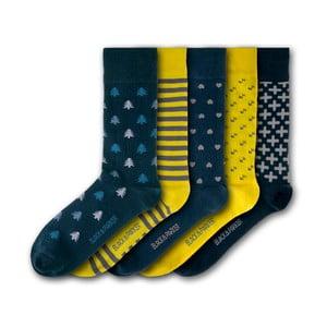 Sada 5 ponožek Black&Parker London Chiswell Walled Garden, velikost 37 – 43