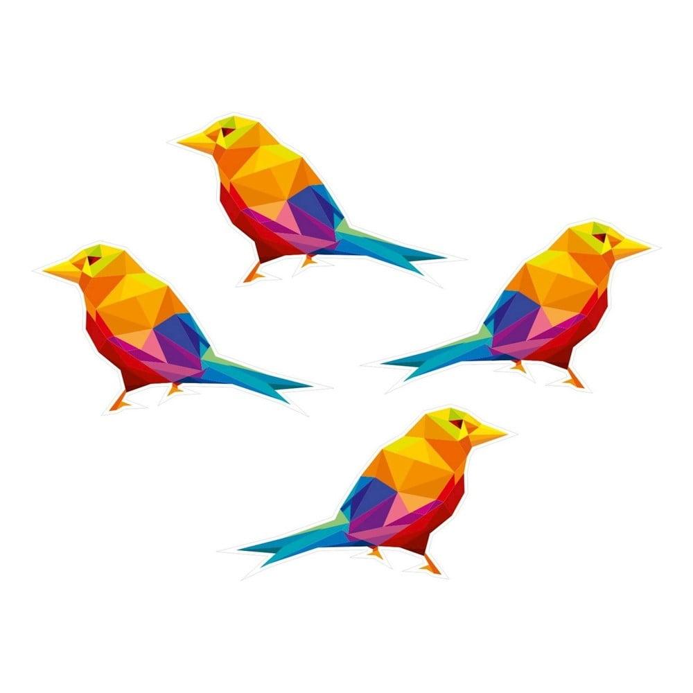 Nástěnná samolepka s geometrickým provedením Birds