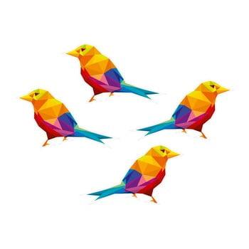 Autocolant de perete cu design geometric Birds