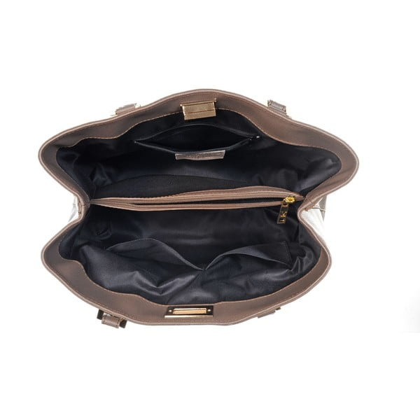 Kožená kabelka Mood Yes Taupe