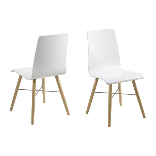 Biela jedálenská stolička Actona Milton