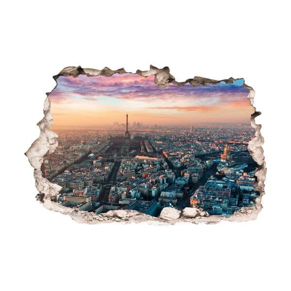 3D samolepka na zeď Ambiance Panorama of Paris