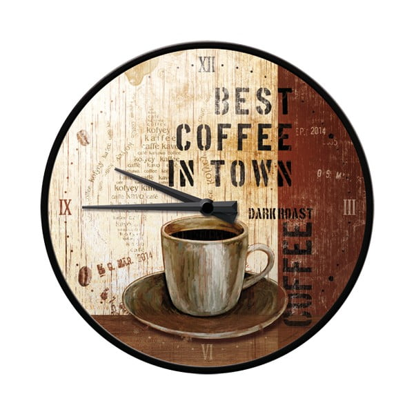 Hodiny Best coffee in town