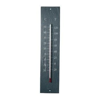 Termometru pentru exterior, din ardezie Ego Dekor Plain, 45 x 10 cm imagine