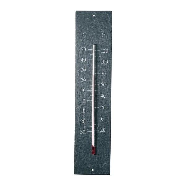 Plain felakasztható pala, kültéri hőmérő - 45 x 10 cm - Esschert Design