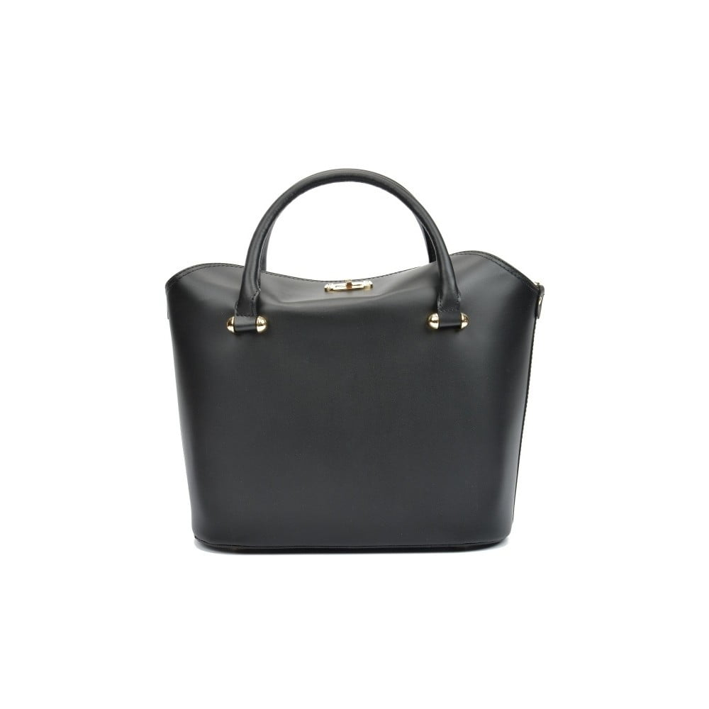 Černá kožená kabelka Isabella Rhea Kreno ... 4ddc2b0296