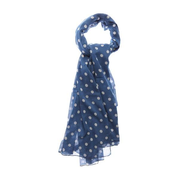 Šátek Dotty Blue, 180x100 cm