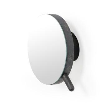 Oglindă cosmetică de perete din lemn de stejar Wireworks Slimline, negru de la Wireworks
