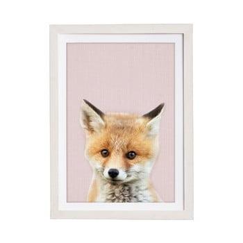Tablou cu ramă pentru perete Querido Bestiario Baby Fox, 30 x 40 cm imagine