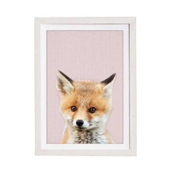 Baby Fox keretezett falikép, 30 x 40 cm - Querido Bestiario