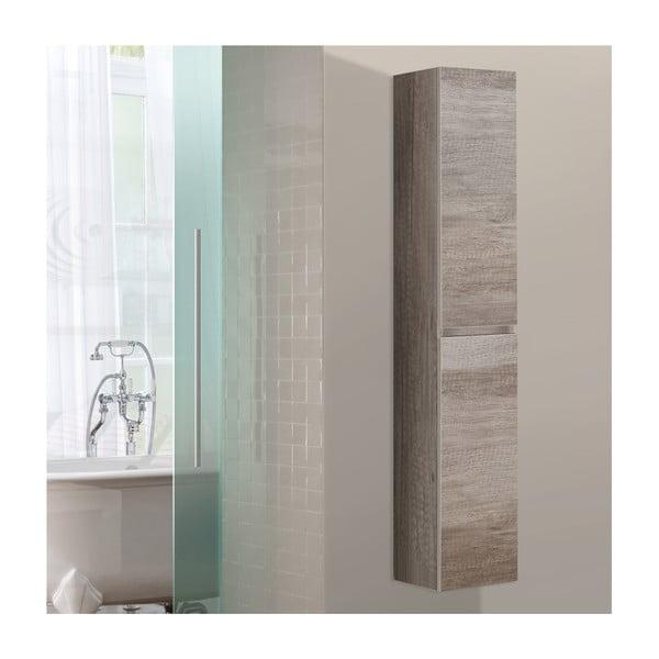 Koupelnová závěsná skříňka Column, dekor dubu