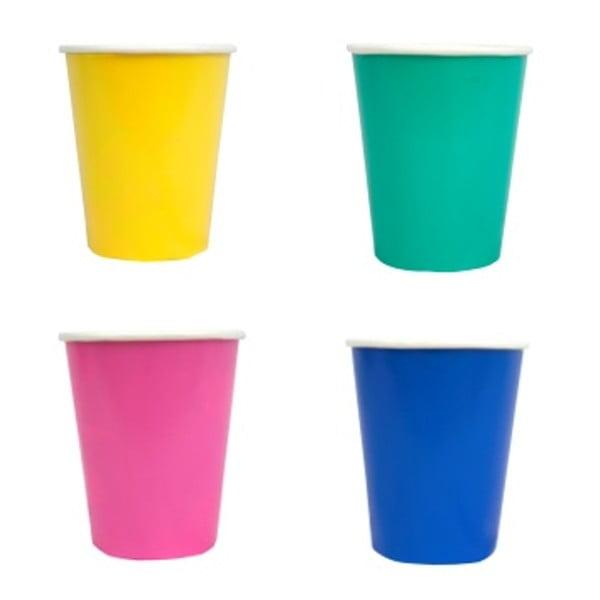 Sada 4 papierových pohárikov Taling Tables, 266 ml
