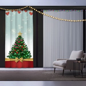 Vánoční závěs This is Christmas , 140 x 260 cm