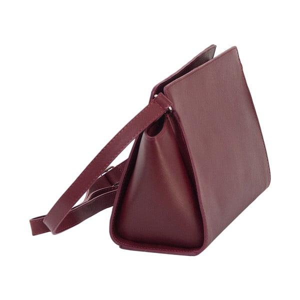 Bordó kožená kabelka Andrea Cardone 1008