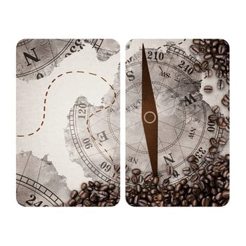 Set 2 protecții din sticlă pentru aragaz Wenko Compass,52x30cm de la Wenko