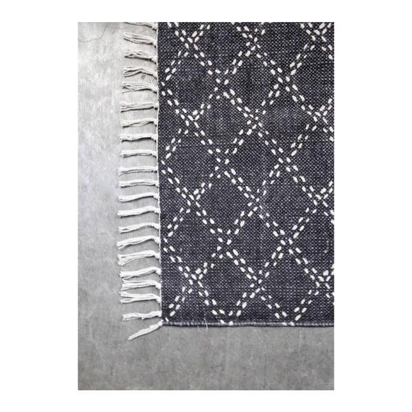 Tmavě šedý bavlněný koberec HSM collection Colorful Living Mano, 120 x 180 cm