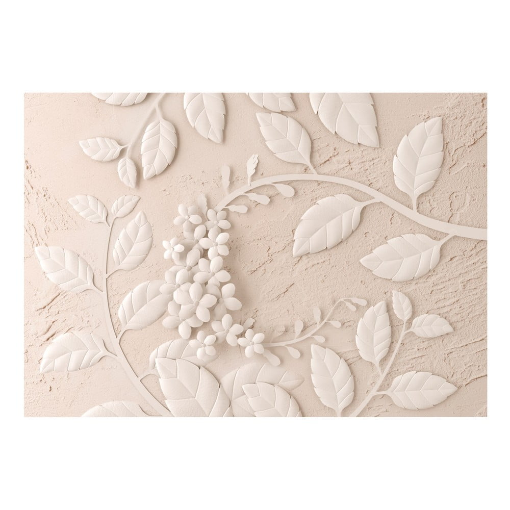 Velkoformátová tapeta Bimago Beige Paper Flowers, 400x280cm