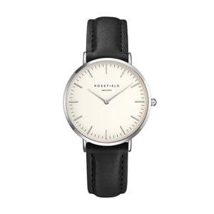 Stříbrno-černé dámské hodinky Rosefield The Tribeca