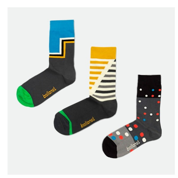 Triplepack ponožek Pack Gray, velikost 36-40