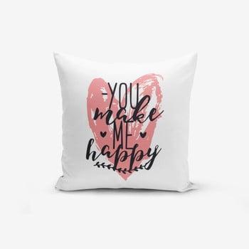 Față de pernă Minimalist Cushion Covers You Make me Happy,45x45cm de la Minimalist Cushion Covers