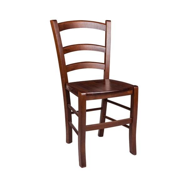 Hnedá drevená jedálenská stolička Evergreen Houso Faux