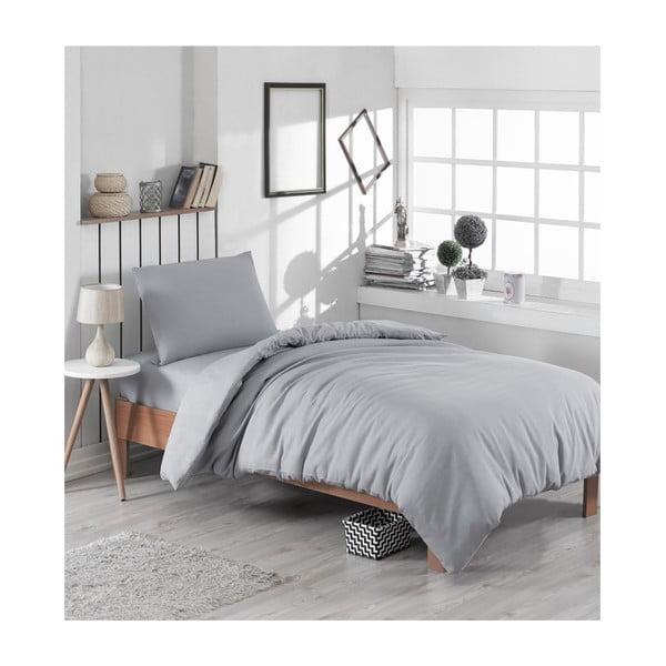 Sivé obliečky na jednolôžko Classy, 140×200 cm