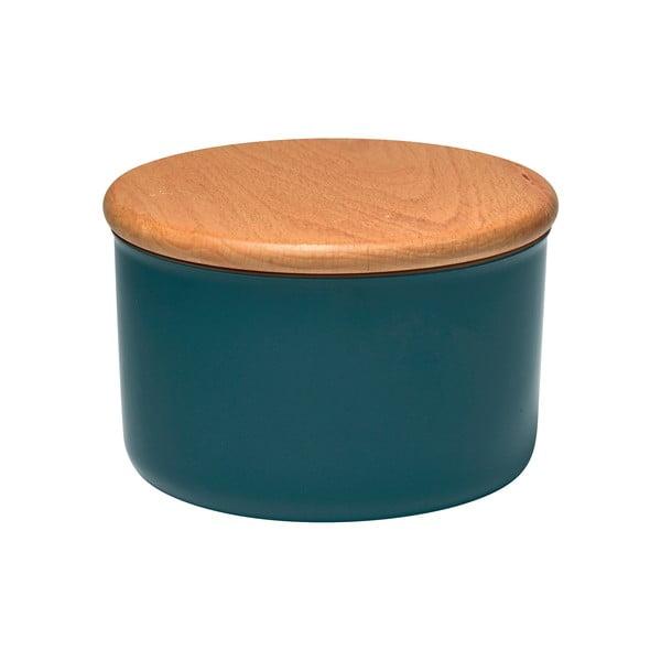Recipient cu capac din lemn Emile Henry, 0,5 l, albastru închis