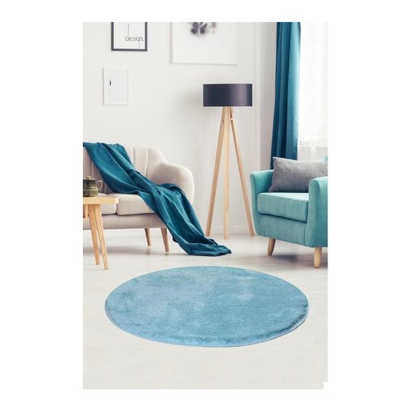 Jasnoniebieski dywan Milano, ⌀ 90 cm