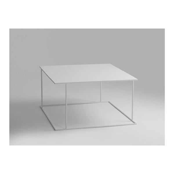 Walt fehér dohányzóasztal, 80 x 80 cm - Custom Form