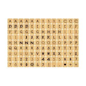 Samolepka Wood Letter Tiles Mini