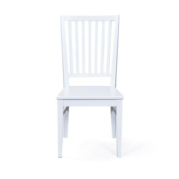 Sada 2 bílých jídelních židli z masivního bukového dřeva Interlink Cassala