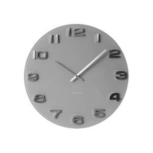 Šedé hodiny Present Time Vintage Glass