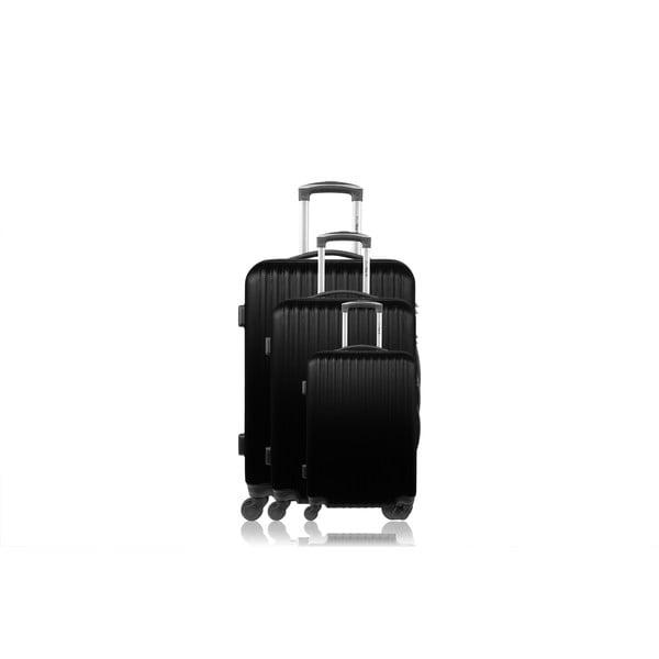 Sada 3 kufrů Brand Developpement Roues Cadenas Dark, 105 l/72 l/40 l