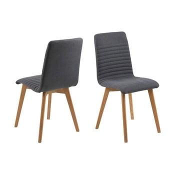 Set 2 scaune Actona Arosa, gri antracit