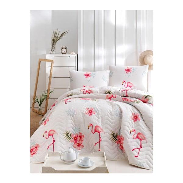 Set cuvertură de pat și față de pernă din bumbac Lura Lolito, 160 x 220 cm