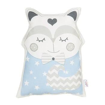 Pernă din amestec de bumbac pentru copii Apolena Pillow Toy Smart Cat, 23 x 33 cm, albastru imagine