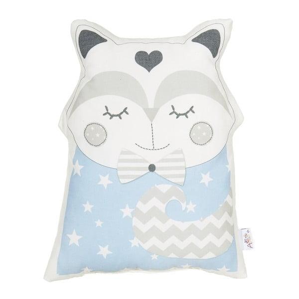 Pernă din amestec de bumbac pentru copii Apolena Pillow Toy Smart Cat, 23 x 33 cm, albastru