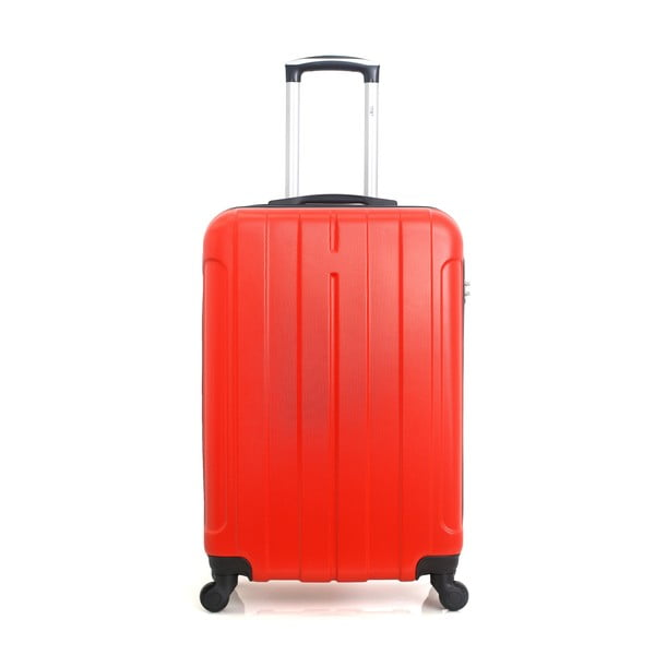 Červený cestovní kufr na kolečkách Hero Fogo, 36 l