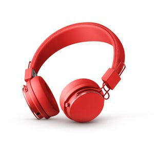 Červená bezdrátová Bluetooth sluchátka s mikrofonem Urbanears PLATTAN II BT Tomato